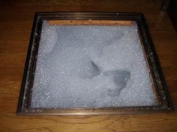 泡状の液剤は1時間半ほどで床下全体に行き渡ります。