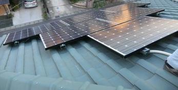 長州産業3.225Kwの太陽光発電システムを設置しました。