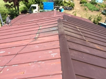 撤去ですっきり屋根の上