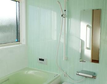 綺麗な色の浴室に変身です(^O^)バスタイムが楽しくなりますね(^^♪