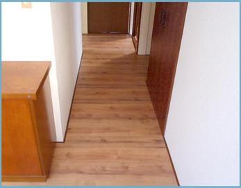 部屋と廊下の段差も解消されました!