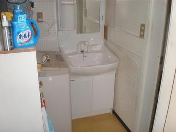 1面鏡、洗髪タイプ・シングルレバーシャワー水栓洗面台!