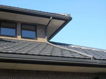 屋根だけでなく玄関も