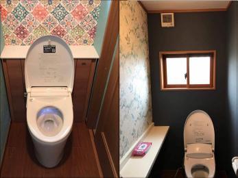 殺風景だった空間を、カフェ風のステキなトイレにしたい