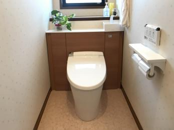 トイレに視覚的な広がりを。