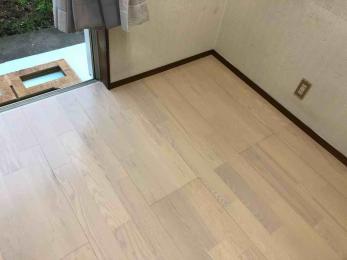 新しい床と一緒に、気持ちも明るくなりました!