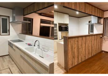 コンセプトは「ありのまま、を大切にする人へ。」理想のキッチン空間へリフォーム