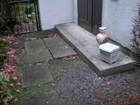 玄関前のちょっとした段差も転倒の原因となります。