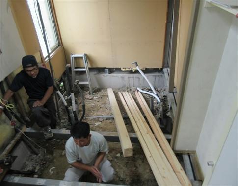 こちらは、施工中の写真です。