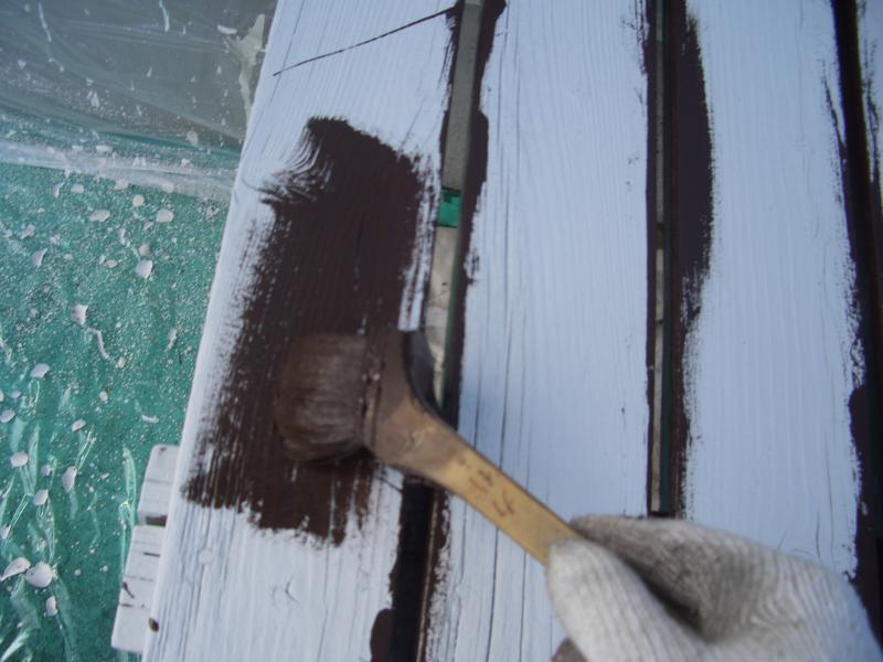 縁側の下塗り