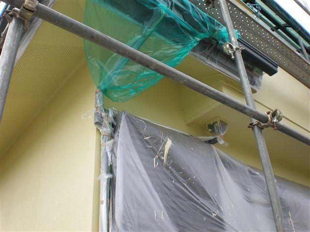 塗装しない部分はしっかりビニールシートで養生してありますので、塗料が付きません。